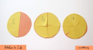an activity about learning fractions