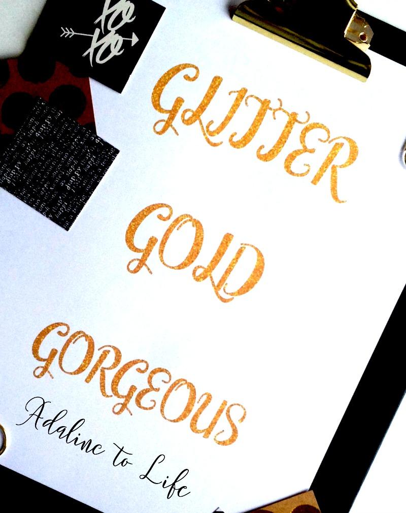 Glitter Gold Gorgeous close up