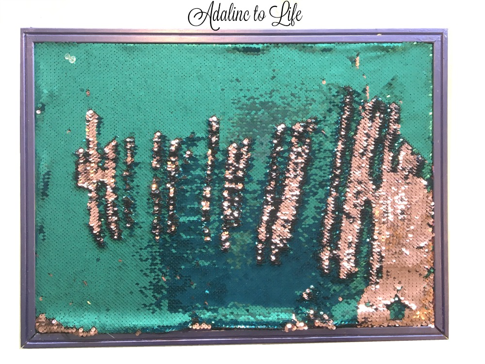 DIY Reversed Sequin Cork Board